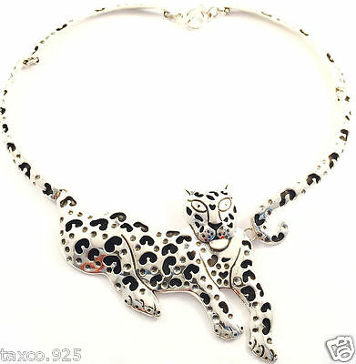 TAXCO MEXICAN STERLING SILVER JAGUAR NECKLACE MEXICO