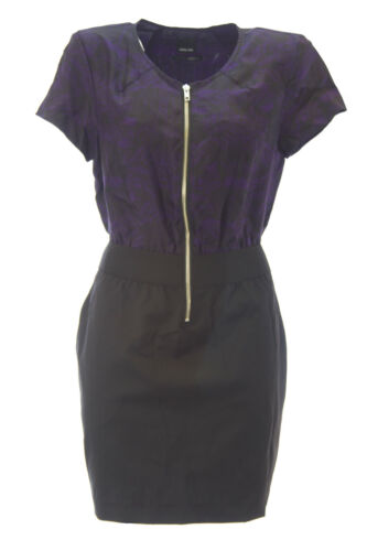 DOLCE VITA Women/'s Gene Front Zipper Short Sleeve Blouson Dress $220 NEW