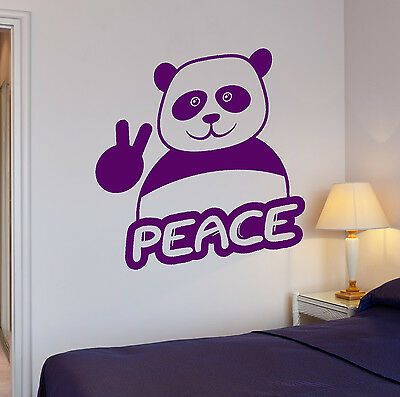 Ig3871 Vinyl Wall Decal Hippie Quote Peace Pacifism Stickers Mural