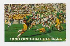 Vintage 1968 University of Oregon Ducks College Football Pocket Schedule