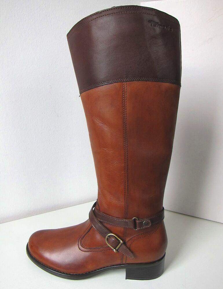 à Condition De Tamaris Cuir Tants Bottes Qu'moka Taille 38 Leather Boots Brown Marron Cognac Apparence EsthéTique