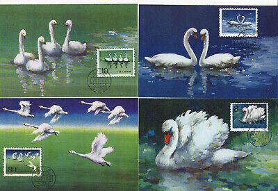 Vr China 1983 Minr 1906-1909 Schwäne Auf 4 Mk Briefmarken China