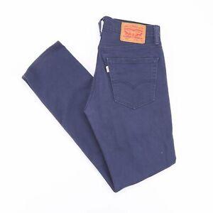 Vintage-Levi-039-s-511-Slim-Coupe-Droite-Blanc-Tab-Men-039-s-Blue-Jeans-W31-L32