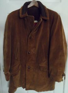 d9413ed26 Details about Vintage 70's Sears Brown Corduroy Car Coat -- Pile Lining --  Fits Mens XL