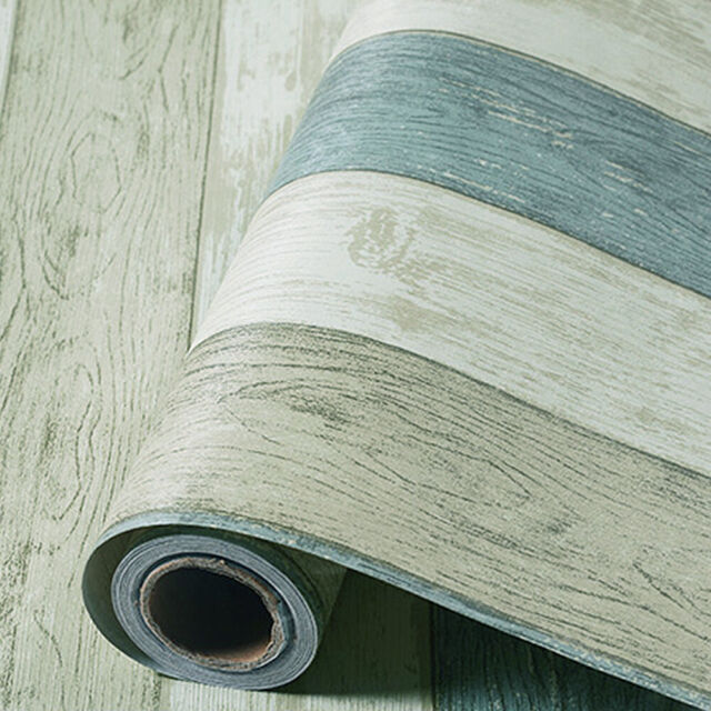 Blue Wood Grain Wallpaper Self Adhesive
