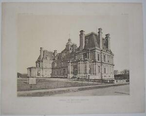 Gravure Chateau De Maisons Laffitte L Architecte 1907 Ebay