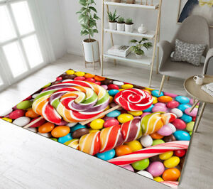 Details about Colorful Lollipop Candy Area Rugs Living Room Floor Bedroom  Rug Mat Home Carpets