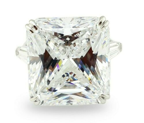 Details about  /925 Sterling Silver Ring White Radiant Baguette Three Stone Cz New À la carte