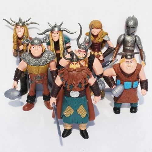 8pcs How to Train Your Dragon Figure Hiccup Stoick Astrid Toys Collection S499