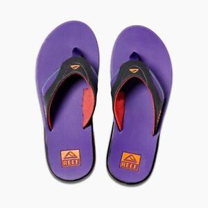 REEF-para-hombre-Ojotas-nuevo-FANNING-purpura-Soporte-para-el-arco-Tangas-Sandalias-Zapatos-9W-26B