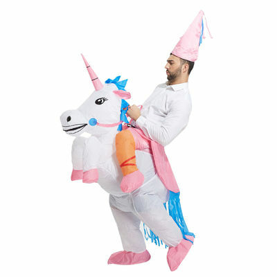 Inflatable Unicorn Costume Adult Ride Novelty Fancy Dress Party Outfit Fan Unit