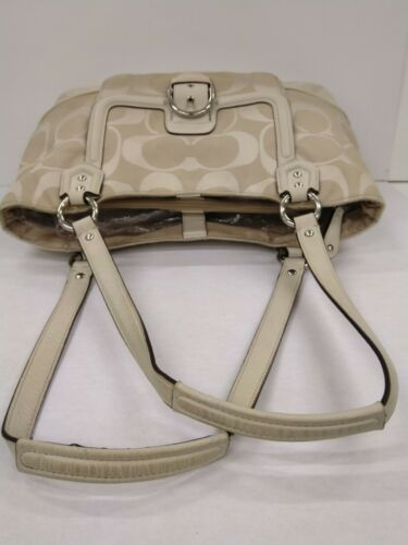 en Canvas Abby Signature Coach tas in Carryall Ivory leer378 Twill wit H2D9EYWI