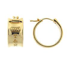 Tiffany & Co. 1837 Hoop Earrings 18K Yellow Gold RETIRED