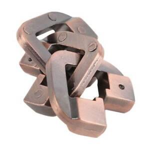 Alloy Cast God Lock Puzzle Retro Vintage IQ EQ Mind Brain Teaser kids Toy Y