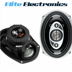 "BOSS P69.4C PHANTOM 6x9"" 4-WAY 800W MAX ELECTROPLATE REAR CAR AUDIO SPEAKERS"