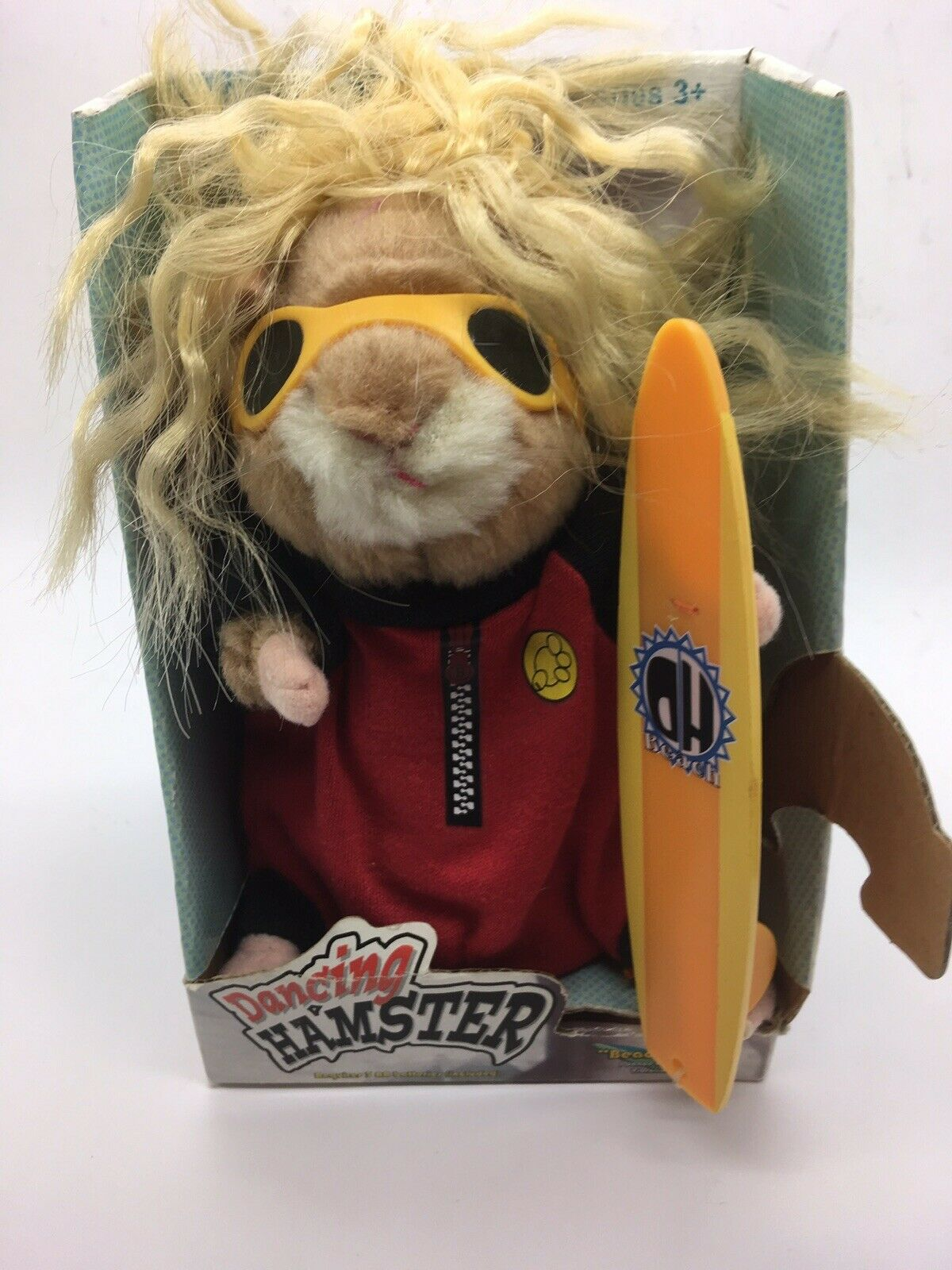 2003 Gemmy Dancing Hamster Beach Bum Surf Dude Sings Dances To Good Vibrations