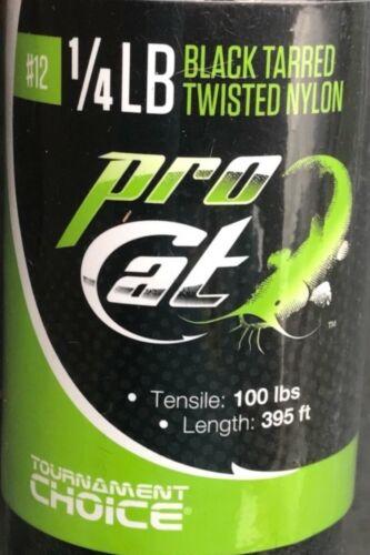 395 ft Catfish Trotline #12 Pro Cat 1//4 lb Black Tarred Twisted Nylon 100 lbs
