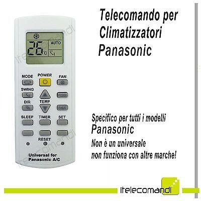 Telecomando universale condizionatore climatizzatore PANASONIC