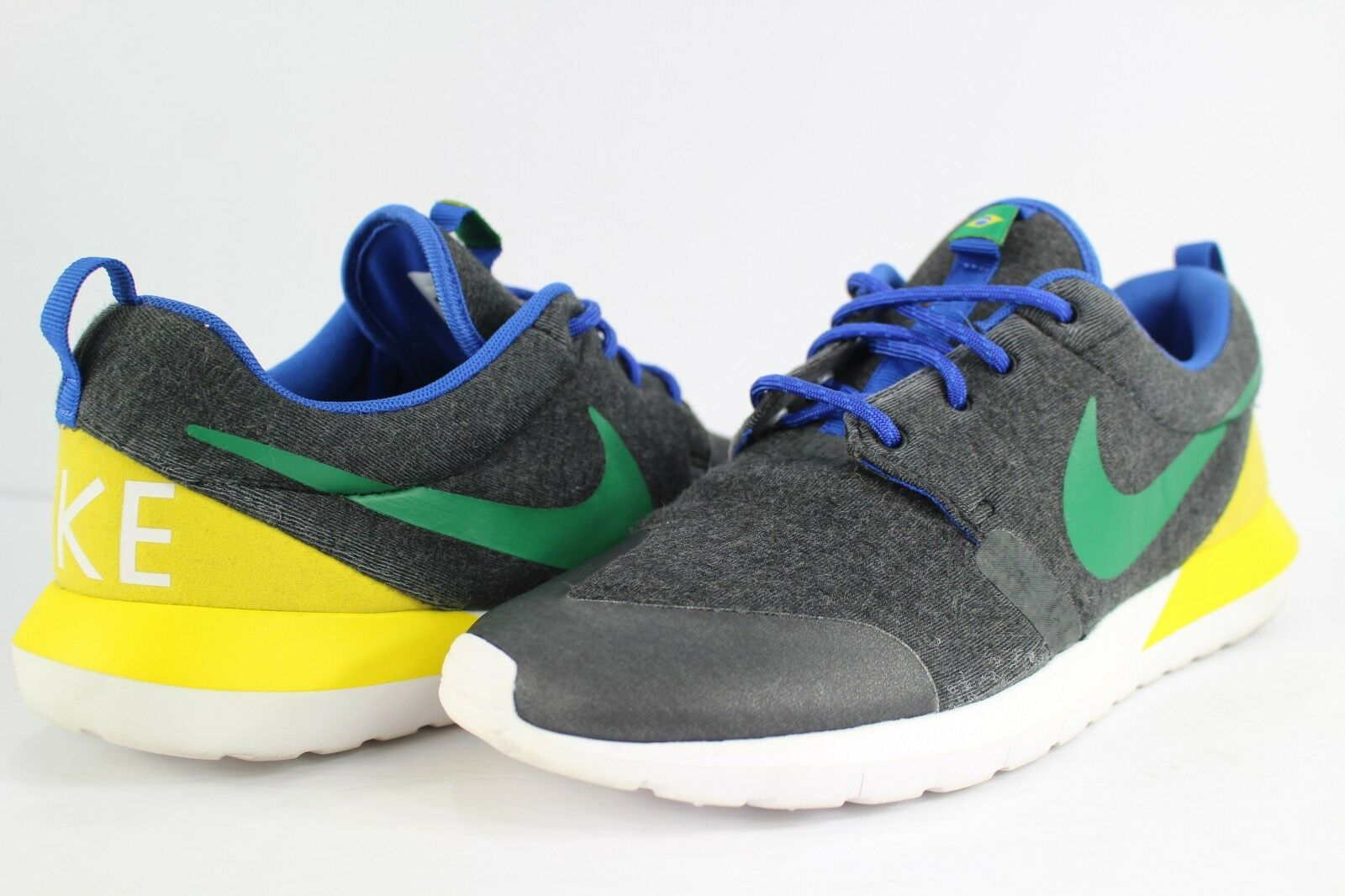 Nike Rosherun NM Cup W SP Brazil World Cup NM Black Heather Pine Green Yellow 8.5 Roshe b23645