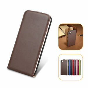 more photos 914fc fc660 Details about Vertical Flip Cover Fashion Genuine Leather Case For iPhone 7  7+ Samsung S5 S6 7