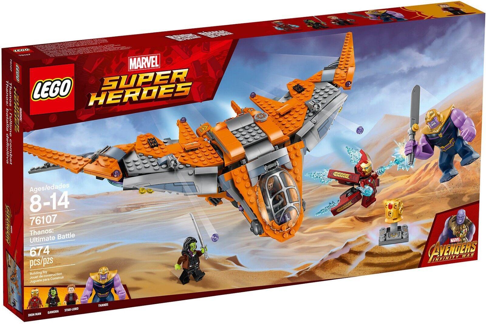 LEGO Marvel Super Heroes 76107 - Thanos: die Schlacht Finale Neu