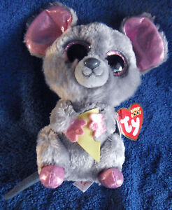 1912c-Squeaker-the-mouse-with-cheese-TY-Beanie-Boos-plush-15cm-tag