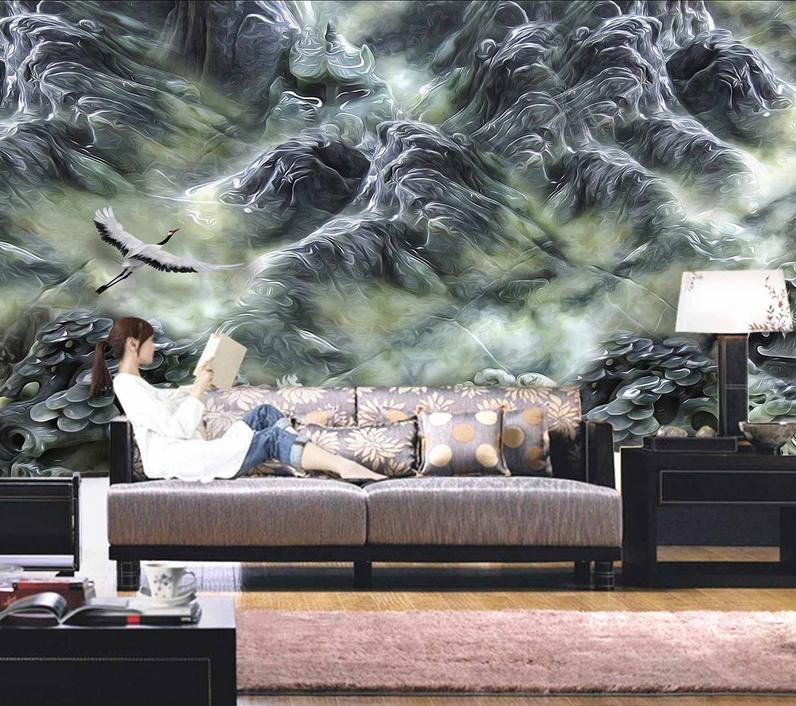 3D Paint Hills 4105 Wallpaper Murals Wall Print Wallpaper Mural AJ WALL UK Carly