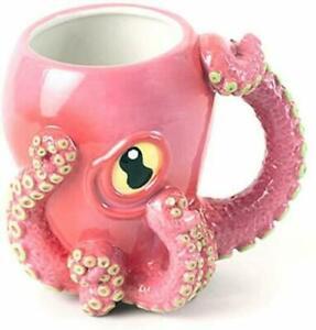 Octopus-3D-Coffee-Cup-Pink-Tentacle-Handle-Octo-Mug-Tentacles-Beverage-Tea-Gree