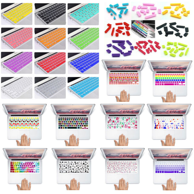 Rubber Anti-dust Plugs Soft Keyboard Keypad Cover for Mac Macbook Air Pro 13 15