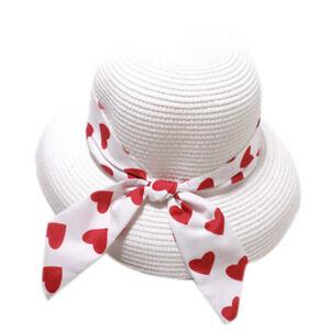 1X-Cappello-di-Paglia-da-Donna-con-Grande-Fiocco-Cappelli-da-Spiaggia-Piegh-M6O7