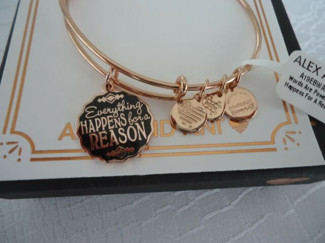 Alex And Ani Everything Hens For A Reason Rose Bangle New W Tag Card Box