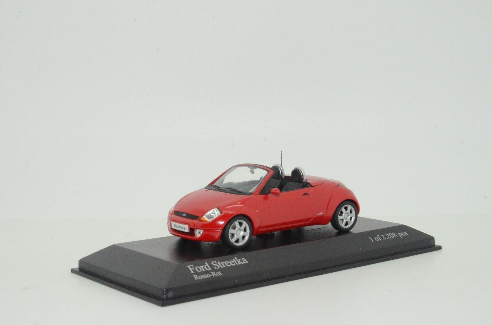 rara    Ford Streetka 2003 Rojo Minichamps 86430 1 43 5d48b7