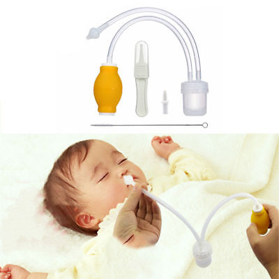Nose Cleaner Baby Safety New Born Vacuum Suction Nasal Aspirator Flu Protection