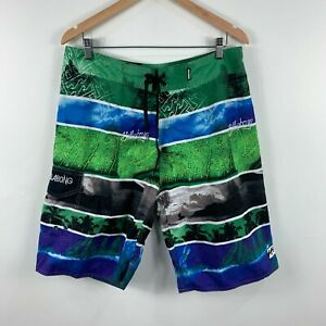Billabong-Mens-Board-Shorts-Size-36-Swim-Shorts-Multicoloured-Drawstring