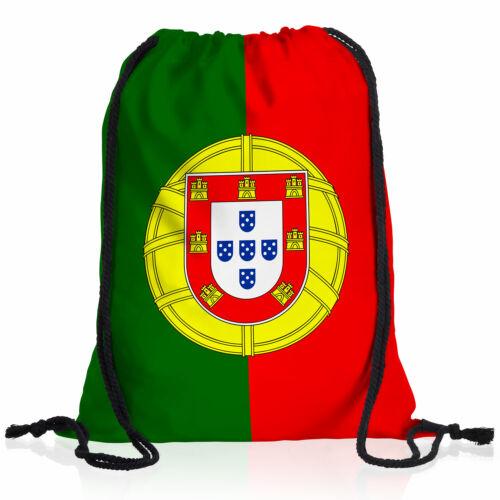 Portugal Turn-Beutel National-Flagge WM EM Fan-Artikel Rucksackl Sport Tasche