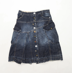 M-Royal-Womens-Size-XL-Denim-Blue-Skirt-Regular