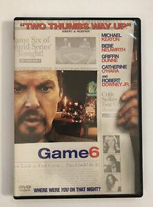 Game 6 (DVD, 2006) Boston Red Sox Michael Keaton - Neuwirth - O'Hara - Downey Jr