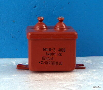MBGP-1  1uF 5/% 200V PAPER CAPACITORS LOT OF 10 pcs
