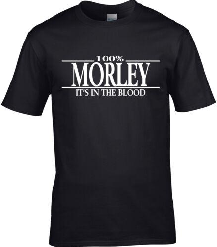 Morley Surname Mens T-Shirt 100/% Gift Name Family Cool Fun