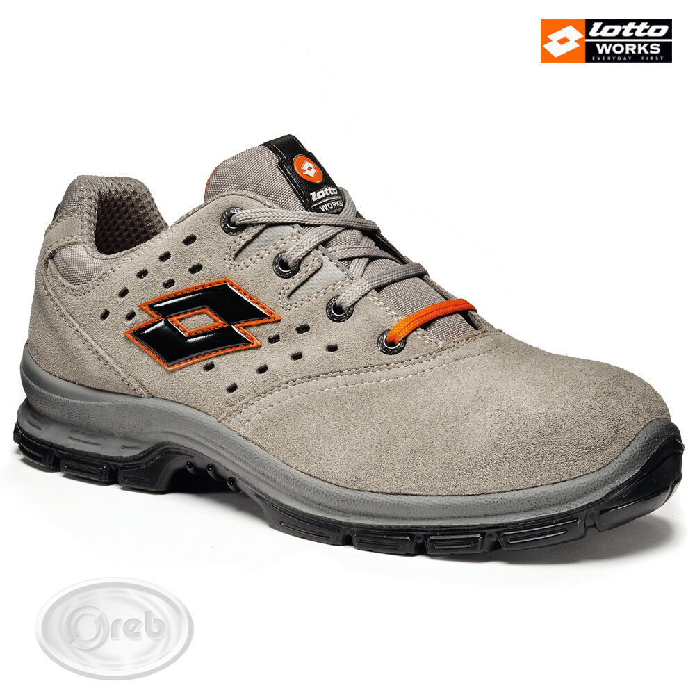 Zapatos ANTINFORTUNISTICHE LOTTO WORKS SPRINT 201 S1P SRC Q8360 PUNTALE ACCIAIO