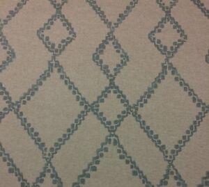 Ballard Designs Randers Glacier Blue Diamond Lattice Fabric By The