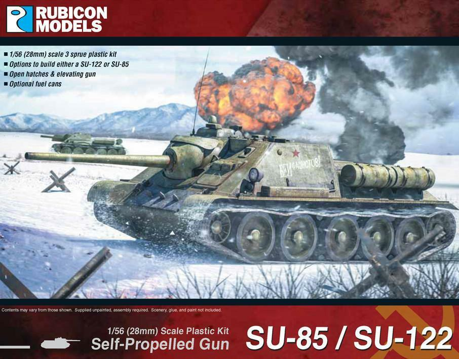 Soviet SU85 SU122 Self Propelled Gun 1 56 scale - Rubicon 280034 - P3