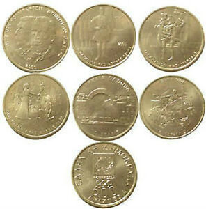Image Is Loading Greece Greek Set Of 6 X500 Drachma Olympic