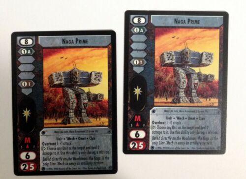 Naga Prime Battletech CCG Commander/'s Edition /'Mech 2