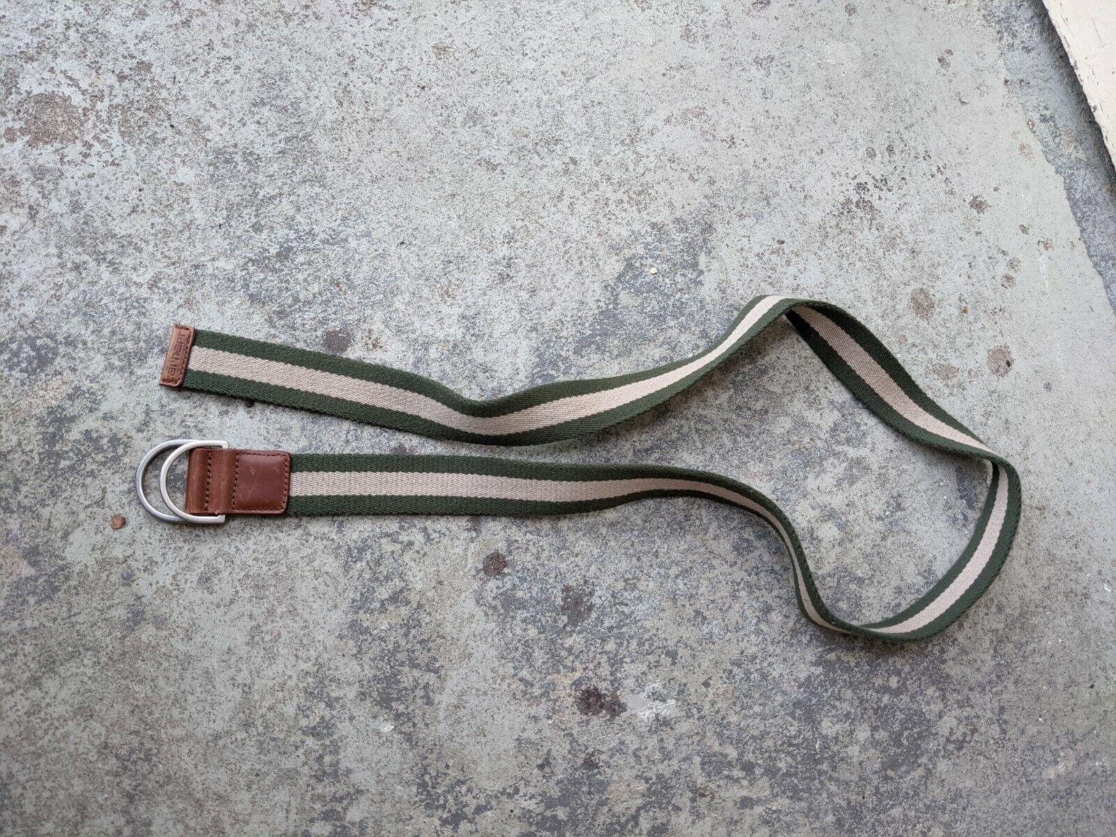 Carhartt Men's Belt Beige Green Leather 118cm