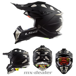 Ls2-LS-2-MX-470-Subverter-Mat-Noir-Mx-Casque-Crosshelm-Moto-Cross-Quad-Enduro