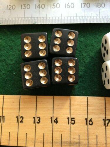 4 Four Dice Die Original Board Game Part Various Size /& Colour Monopoly Etc