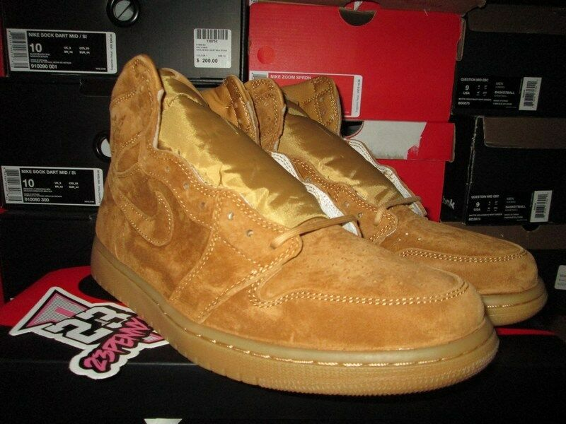 NEW AIR JORDAN 1 HIGH WHEAT GOLDEN HARVEST GUM 555088 710 I RETRO OG The latest discount shoes for men and women