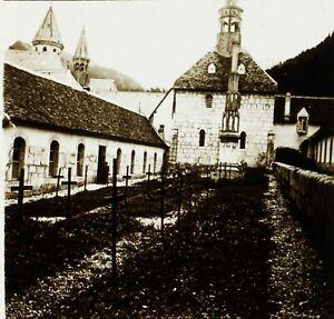 FRANCE-La-Grande-Chartreuse-1924-Monastere-Photo-Stereo-Plaque-Verre-VR2L12n10