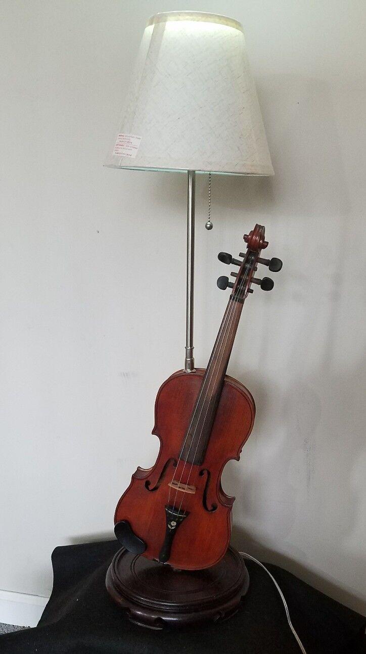 Lámpara De Violín Instrumento Musical Musical Musical con altavoces azultooth Y Control Remoto De Color LED  tienda de descuento